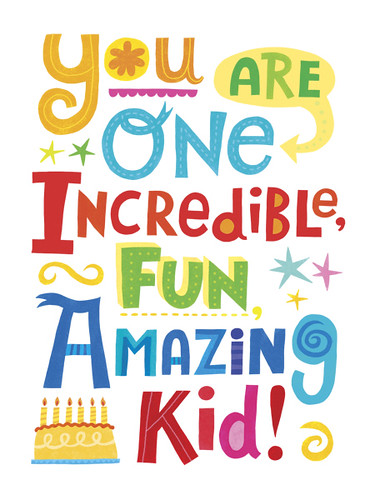 Amazing Kid Birthday Card - outside | Client: Peaceable ...