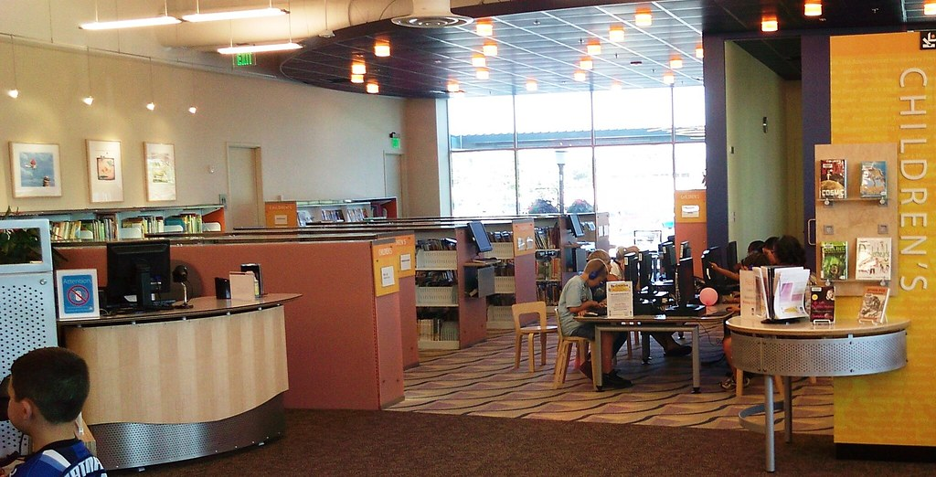 Children S Area And Circulation Desk At The Burien Library