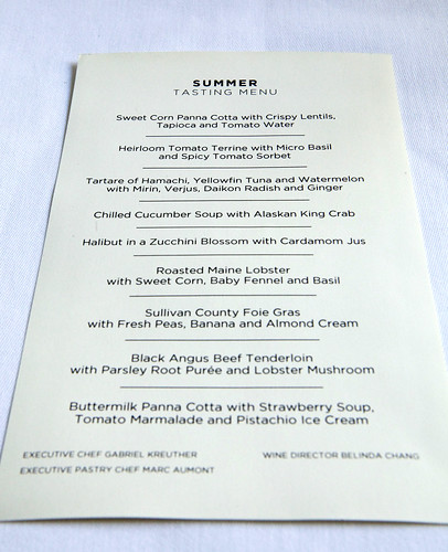 tasting menu the modern dining room they provided me a