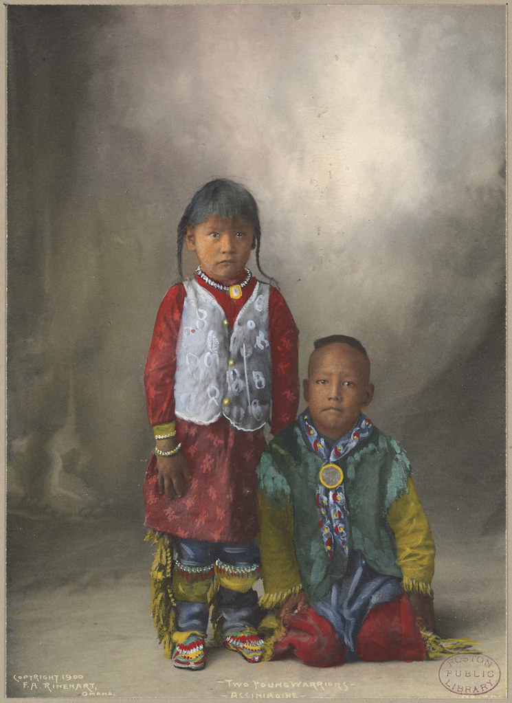 two young warriors  assiniboine