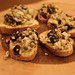 Raisin Chevre Walnut Bruschetta