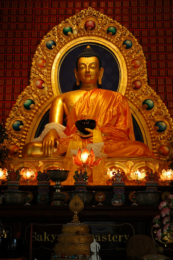 Lord Buddha Statue In The Earth Touching Mudra Holding A B