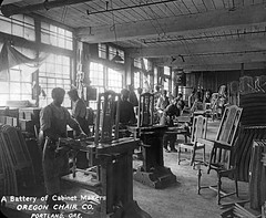 Cabinet makers at the Oregon Chair Company