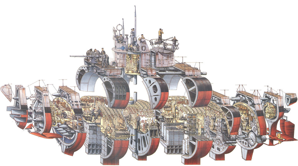 Stephen Biesty Type Vii U Boat Cutaway Supersized Edition