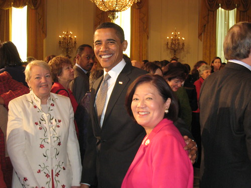 Congresswoman Mazie Hirono with President Obama | by Senator Mazie Hirono