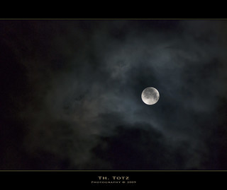 Moon behind clouds | by def110