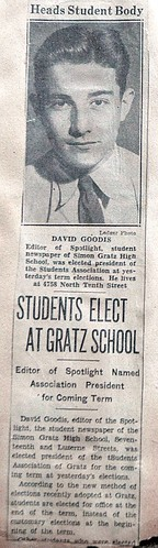 David Goodis, President of Student Body, 1935 | by popepius