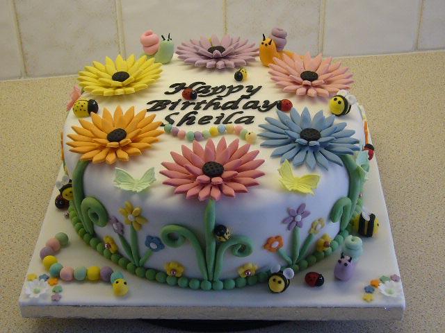 Sheila S Garden Birthday Cake Cherubette Flickr