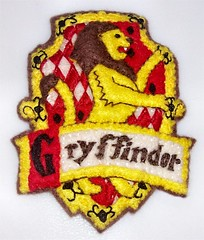 Gryffindor Hand Embriodered Felt Ornament from Harry Potter | by Jennie Ivins
