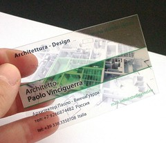 clear plastic business cards Architetto Vinciguerra P. - Mosca | by Pinkograf by Pinkard