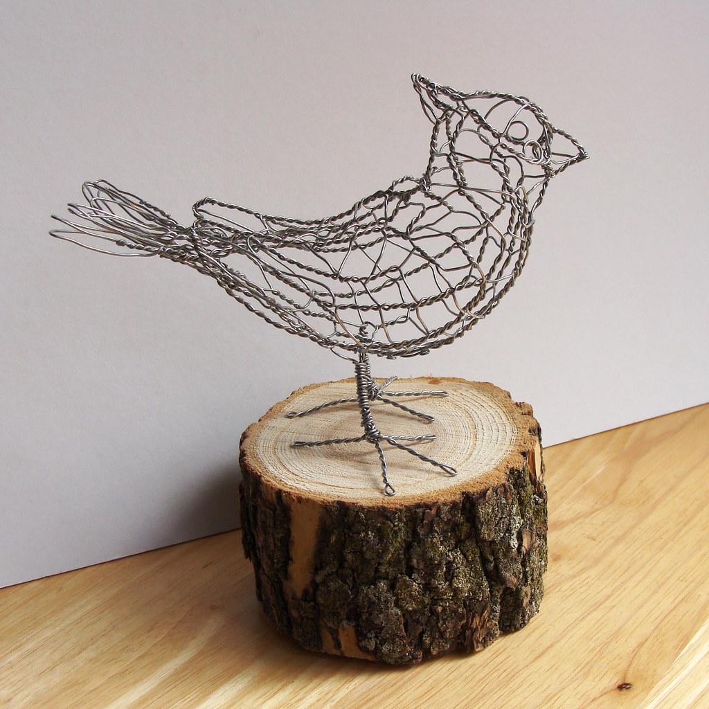 Wire Sculpture Bird B7_right | One of 25 wire birds - each u… | Flickr