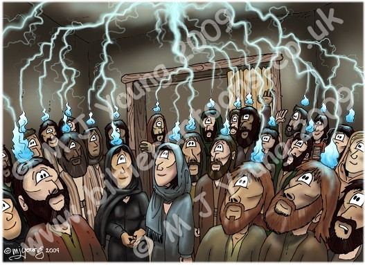 Acts 02 Pentecost Scene 03 Fire Acts 2 3 Nlt