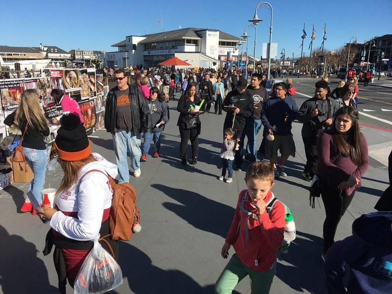 San Francisco, Fisherman's Wharf Leafleting Event – February 11, 2017