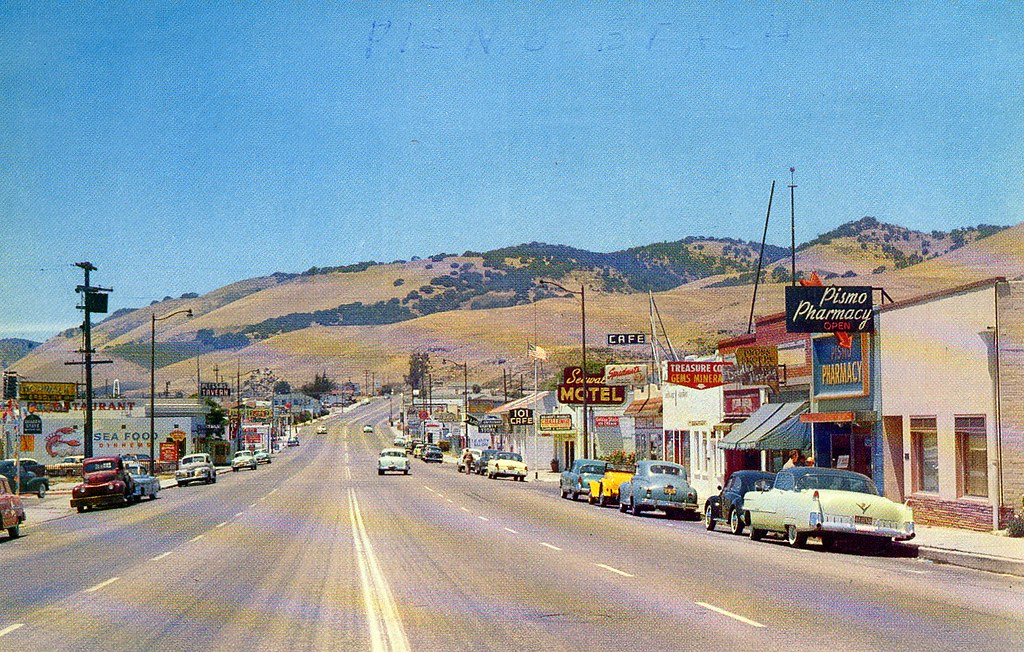 Pismo Beach California 1950 S From A Postcard Flickr