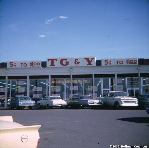 Classic TG&Y Family Center Retail Store Exterior in 1965 - Santa Fe, New Mexico | by BismarckPride.com