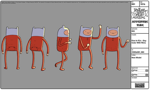 Adventure Time Character Design Sheets : Finn in pjs character art from the adventure time