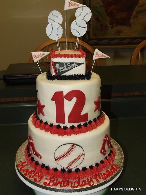 Red Sox Birthday Cake Ideas