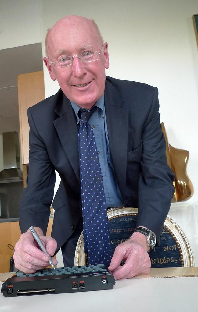 Sir Clive Sinclair | Sir Clive Sinclair signs a Spectrum ...
