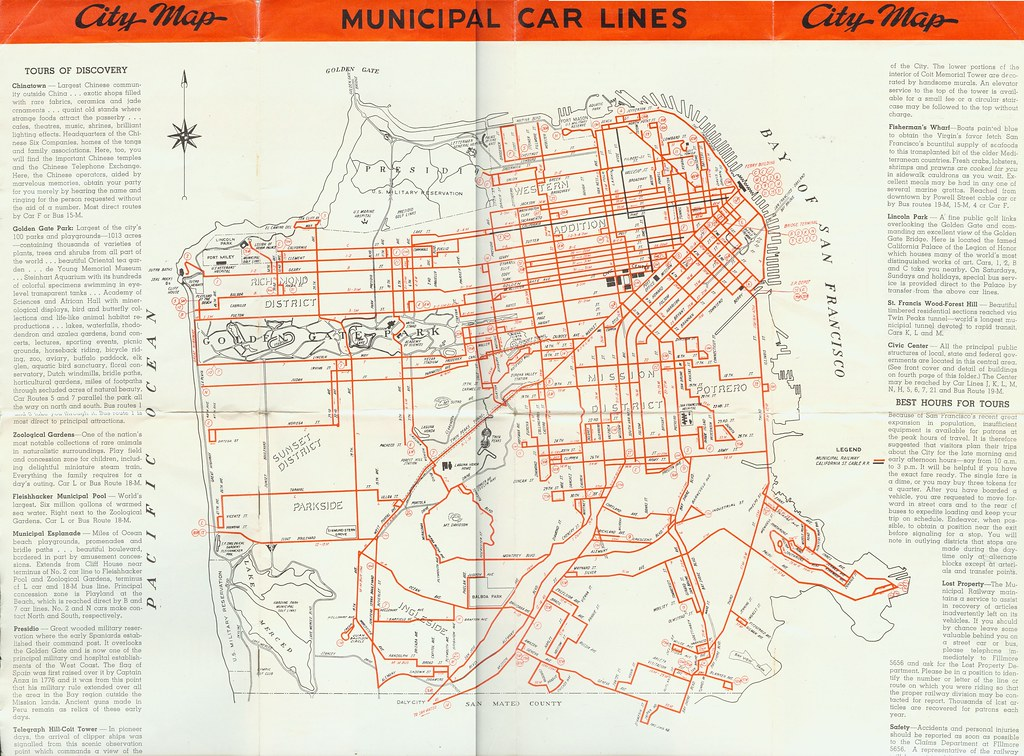 Tours Of Discovery San Francisco Muni Transit Map Flickr - San francisco rail map