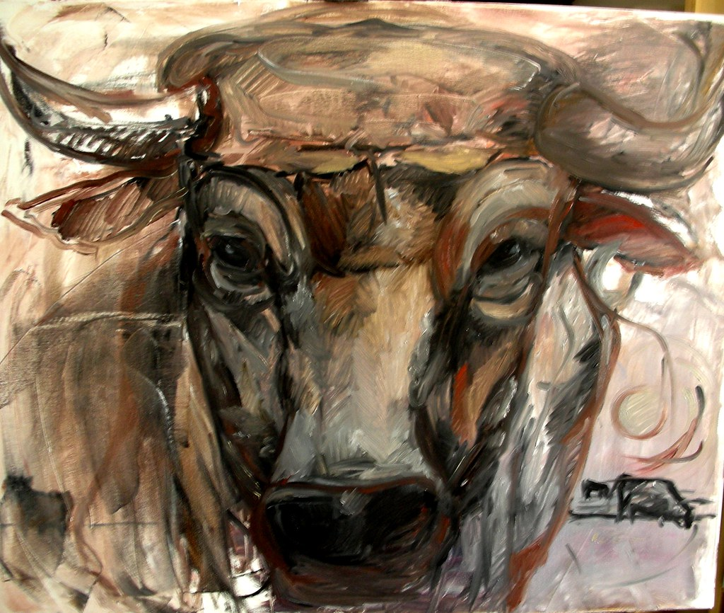 Brand-new BULL-FALLLO' - first oil sketch on 1m canvas | Oil on Canva… | Flickr JD43