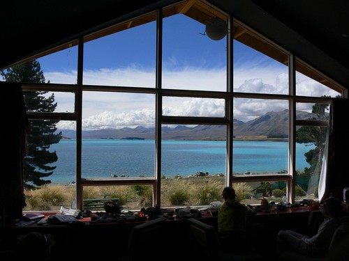 Lake Tekapo YHA New Zealand - view from common room | by neeravbhatt