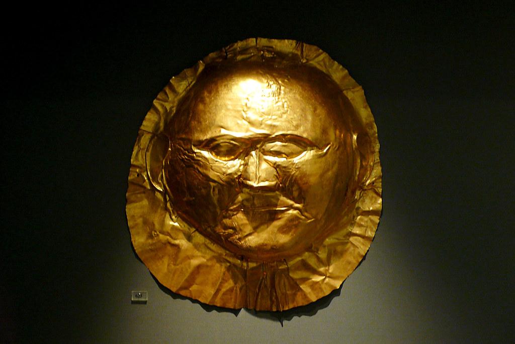 Mycenae Frowny Funeral Mask Shaft Grave V Grave Circle Flickr