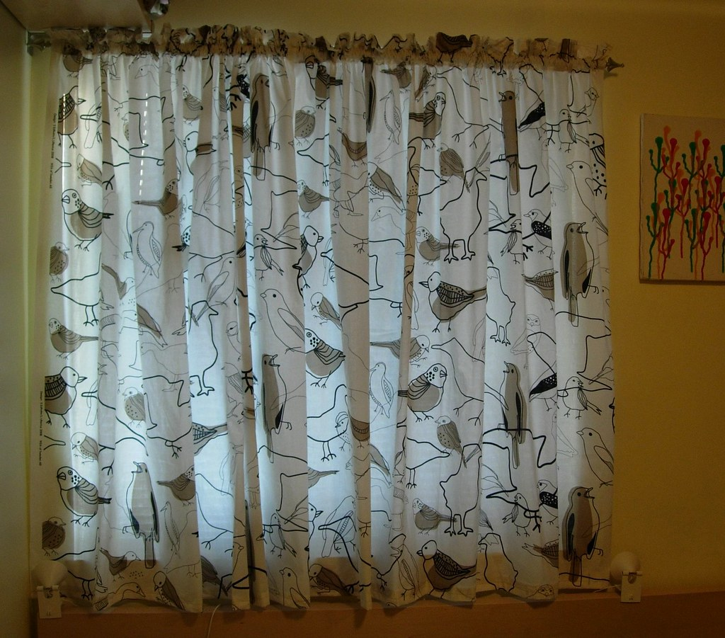 New Bedroom Curtains With Birds I Just Sewed These New