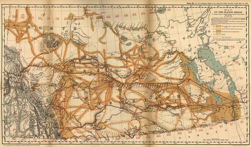 Map of the Prairie Region (1880) | Fleming, Sandford. Map