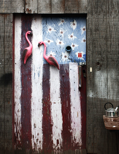 flag door | by Intrepid Tripod