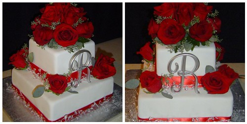 wedding cakes with red roses and bling roses amp bling wedding cake 1 2009 125 2 26098