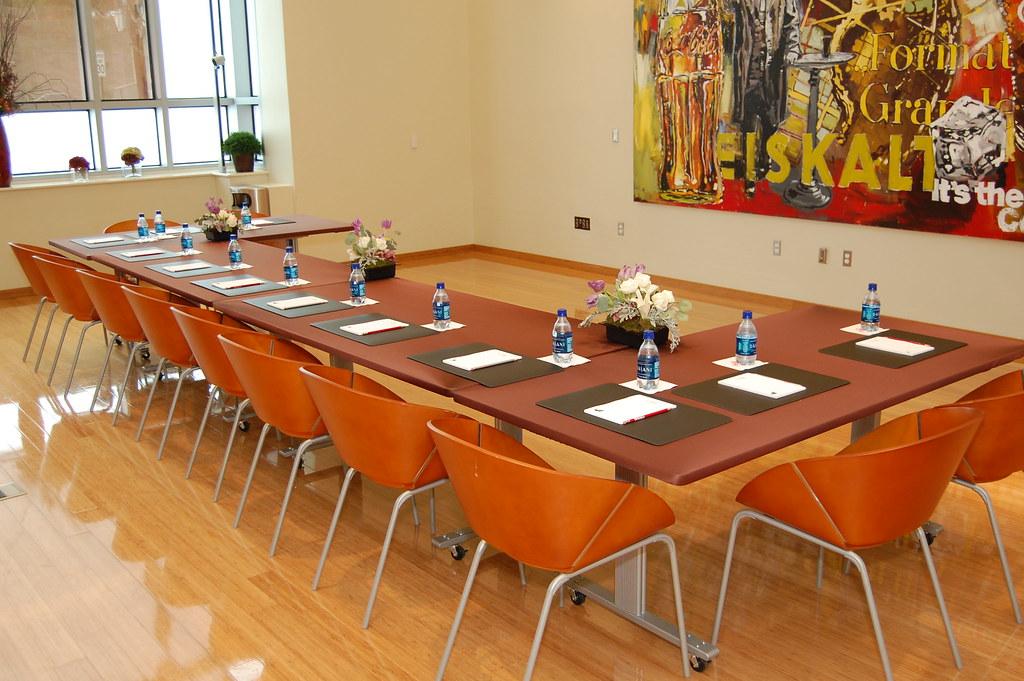 BCS Conference Table Set Up Bottle Cap Suite Conference Flickr - Conference room table set