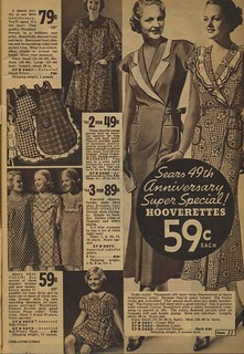 Sears catalogue 1935 - women's Hooverettes, aprons, smocks | by genibee