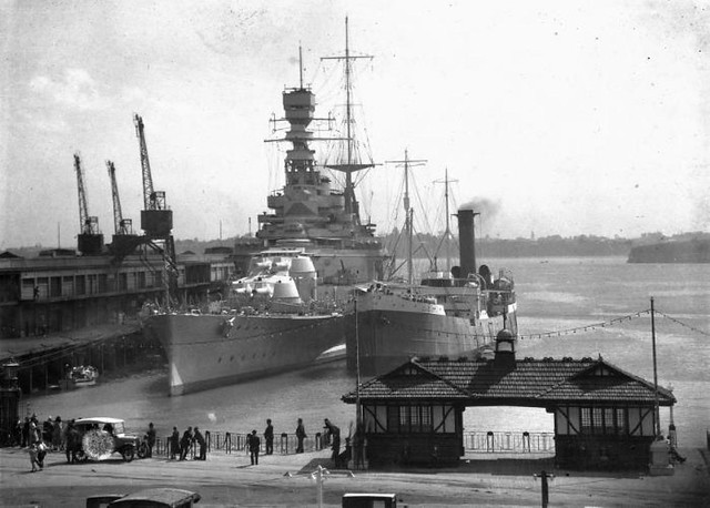H M S Renown Visiting Auckland New Zealand 1920 I