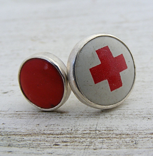 Antique Red Cross Stackers | by HouseThatCrowBuilt