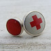 Antique Red Cross Stackers