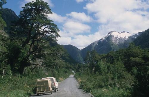 Paisaje Habitual Cordillerano Sur De Chile La Cordillera