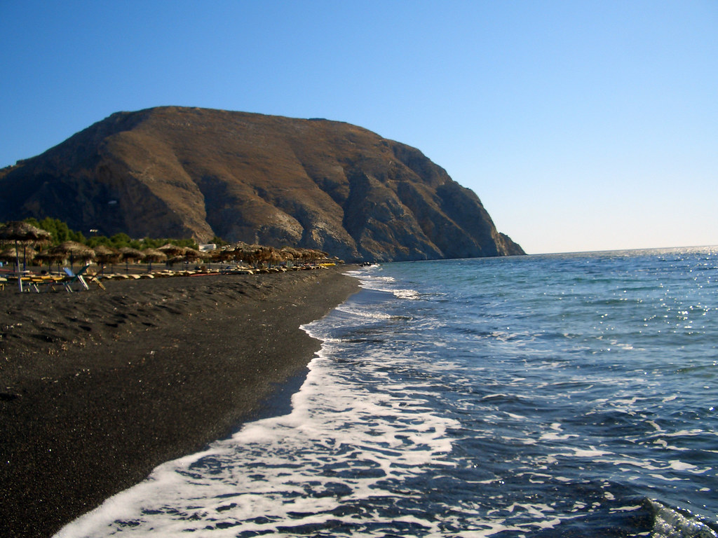 Image result for perissa beach