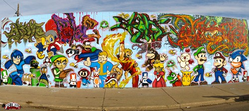 Video Game Character Mural