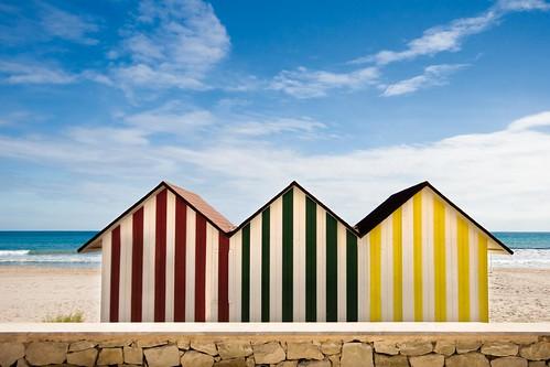 Casetas playa mutxavista el campello turismo flickr for Casetas de plastico para jardin