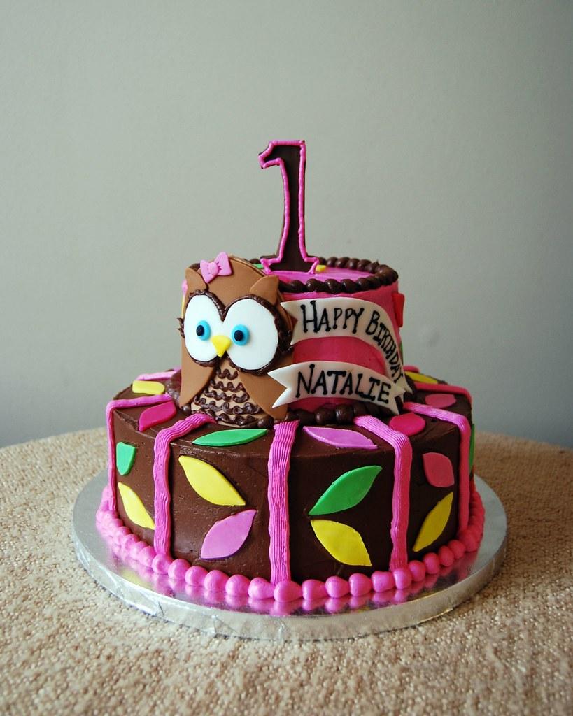 Owl Birthday Cake Whoos Turning One Themed Birthday Cake Sara