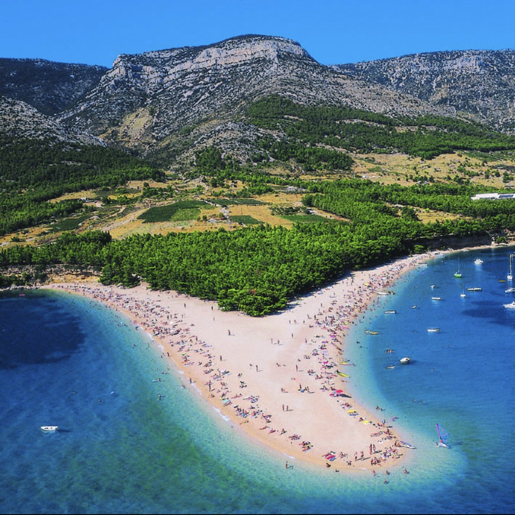 The Zlatni Rat, often referred to as the Golden Cape or #Golden Horn is a spit of land located ... Zlatni Rat is located in #Croatia. Zlatni Rat ... #Zlatni Rat has been regularly listed as one of the top #beaches in #Europe.