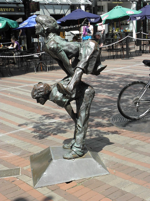 Sculpture in the Burlington VT Marketplace