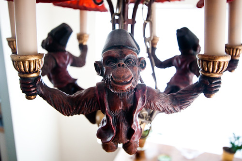 Flying monkey chandelier detail the title says it all r flickr flying monkey chandelier detail by orrin mozeypictures Gallery