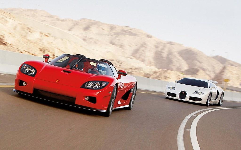 Koenigsegg CCX Vs Bugatti Veyron Veyron Whitte | Los dos ...