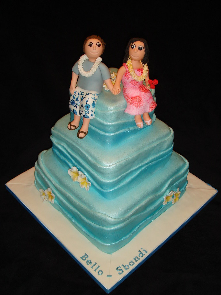 Hawaiian Themed Wedding Cake Mayen Flickr