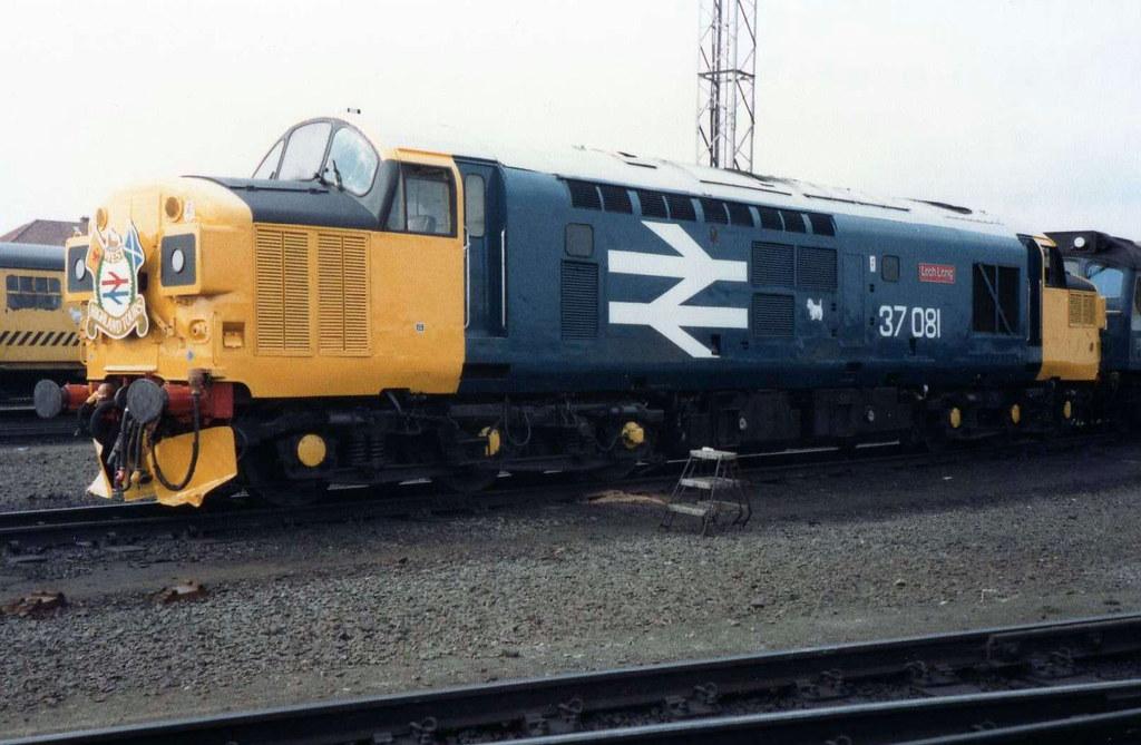 class 37 37081 loch long eastfield depot tmd glasgow