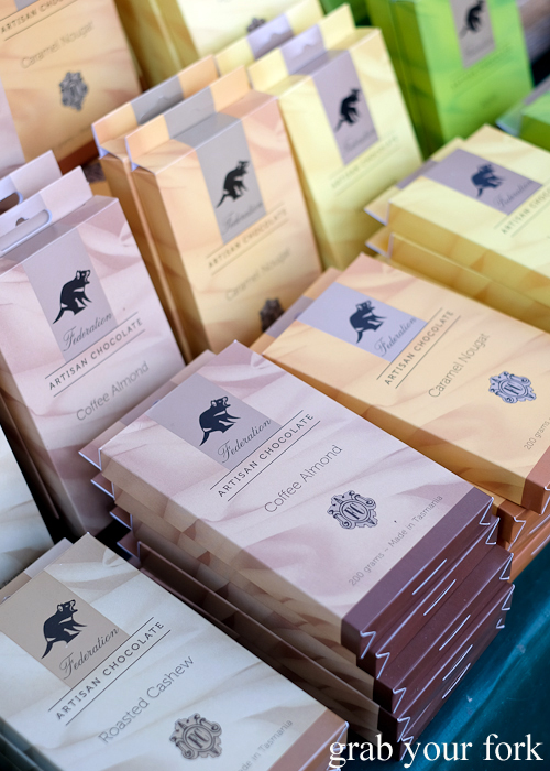 Federation artisan chocolate at the Salamanca Market in Hobart