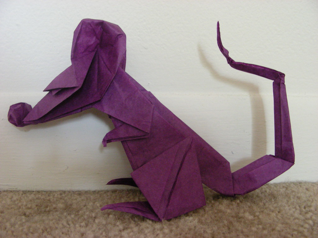 Origami rat design by eric joisel folded from a 16 inch flickr origami rat design by eric joisel by origamiancy jeuxipadfo Images