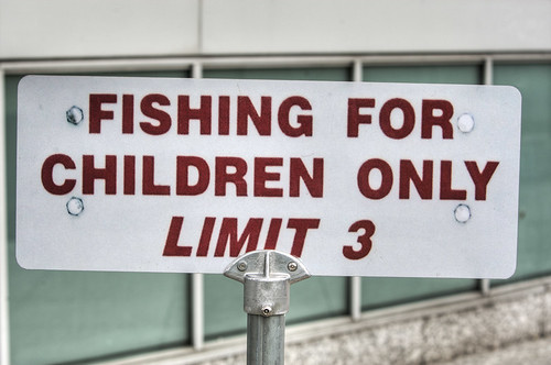 Fishing For Children Only Limit Three funny sign | by Chris Radley