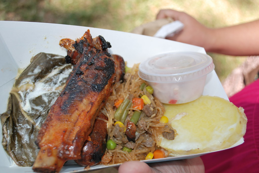 8 Plate From The Tongan Food Vendor My First Time Ever Tr Flickr